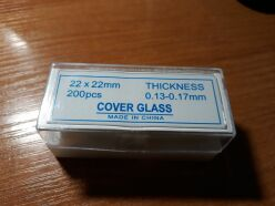 cover glasses 22×22 mm (200 pcs)